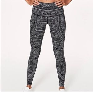 Lululemon Wunder Under Hi-Rise Tight Entwined Sz 6